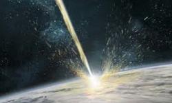 metallo in collisione sulla  terra